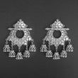Jeweljunk Silver Plated Afghani Dangler Earrings  - 1314859A