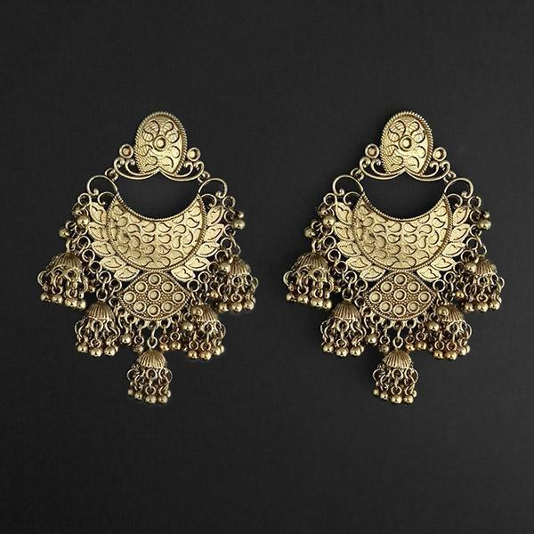 Jeweljunk Gold Plated Afghani Dangler Earrings  - 1314861