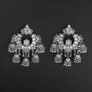 Jeweljunk Silver Plated Afghani Dangler Earrings  - 1314864