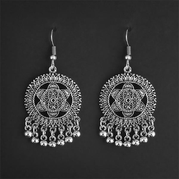 Jeweljunk Silver Plated Dangler Earrings - 1314867A