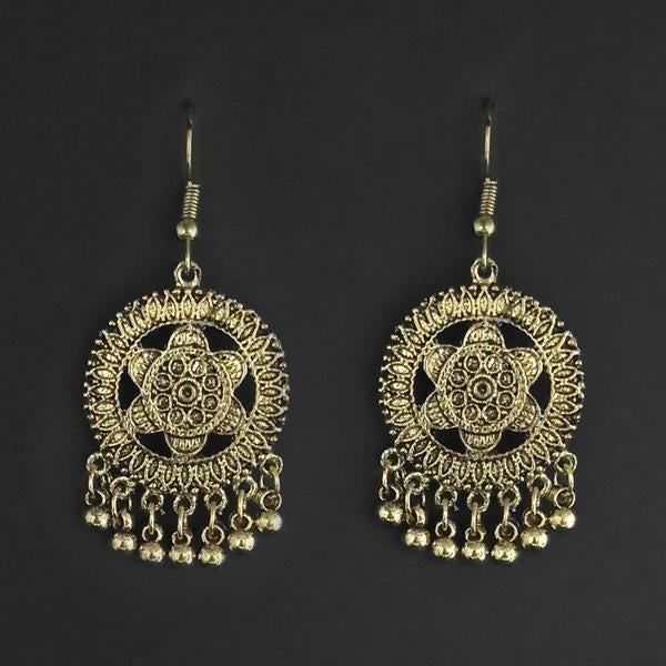 Jeweljunk Gold Plated Dangler Earrings - 1314867B