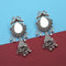 Jeweljunk Silver Plated Mirror Jhumki Earrings - 1314911