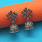 Jeweljunk Oxidised Plated Jhumki Earrings - 1315001