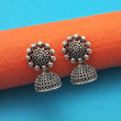 Jeweljunk Oxidised Plated Jhumki Earrings - 1315002