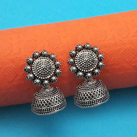 Jeweljunk Oxidised Plated Jhumki Earrings - 1315008