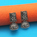 Jeweljunk Oxidised Plated Jhumki Earrings - 1315012
