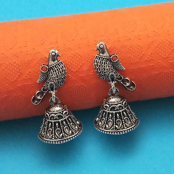 Jeweljunk Oxidised Plated Jhumki Earrings - 1315017