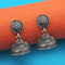 Jeweljunk Oxidised Plated Jhumki Earrings - 1315024