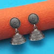 Jeweljunk Oxidised Plated Jhumki Earrings - 1315028