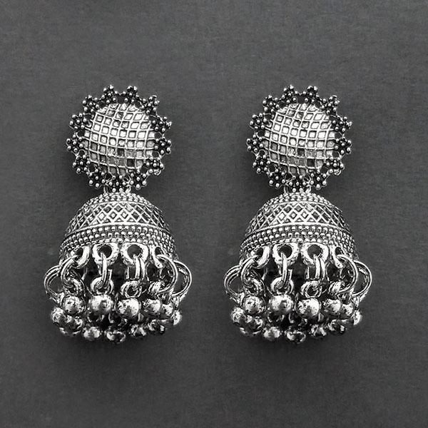 Jeweljunk Oxidised Plated Jhumki Earrings  -1315032