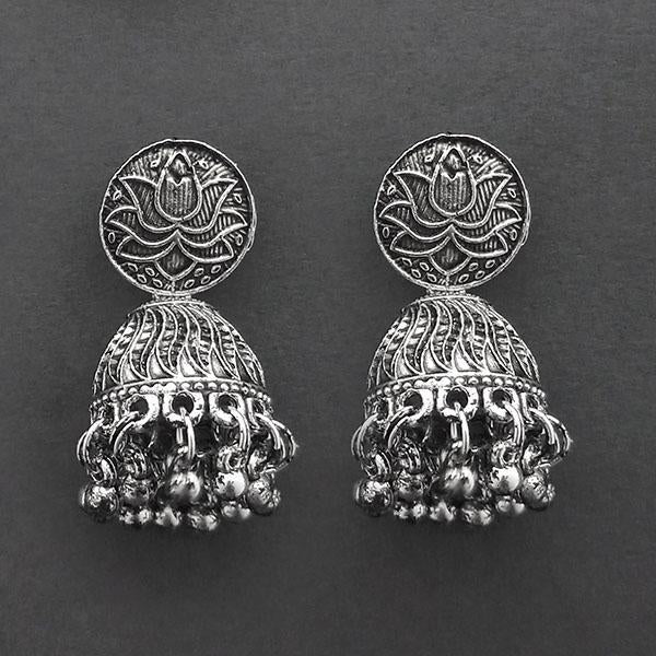 Jeweljunk Oxidised Plated Jhumki Earrings  -1315033
