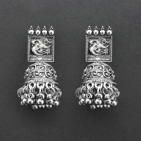 Jeweljunk Oxidised Plated Jhumki Earrings  -1315034