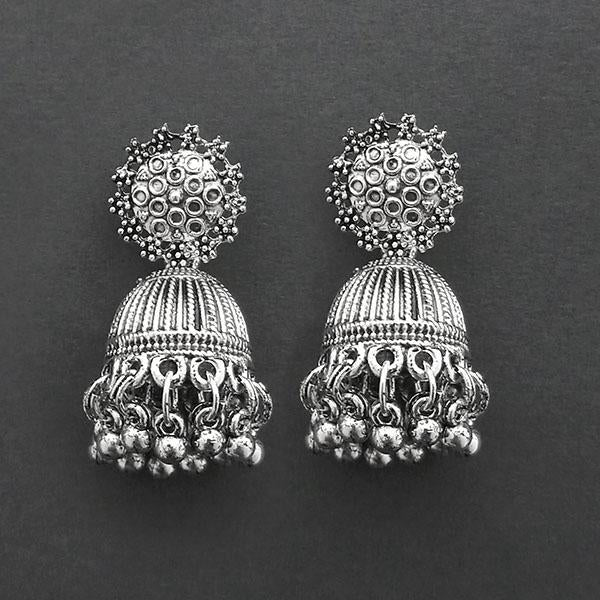 Jeweljunk Oxidised Plated Jhumki Earrings  -1315036