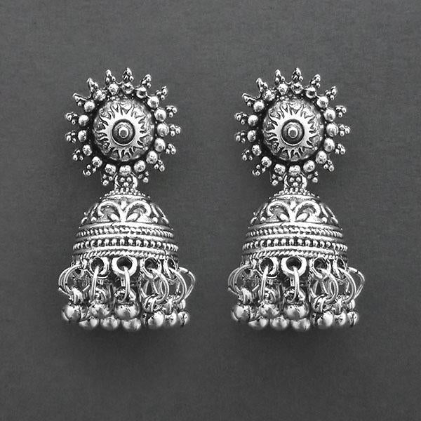 Jeweljunk Oxidised Plated Jhumki Earrings  -1315038