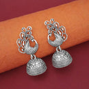 Tip Top Fashions Oxidised Plated Peacock Jhumki Earrings - 1315042