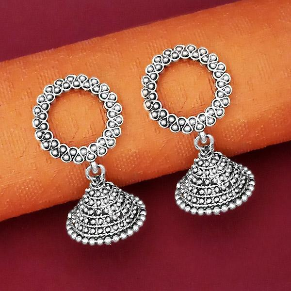 Jeweljunk Oxidised Plated Jhumki Earrings - 1315068
