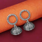 Jeweljunk Oxidised Plated Jhumki Earrings - 1315072