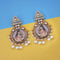 kriaa Kundan Stone Padmavati Inspired Gold Plated Dangler Earrings - 1315115