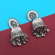 Jeweljunk Silver Plated Mirror Jhumki Earrings -1315308