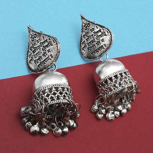 Jeweljunk Oxidised Plated Jhumki Earrings  -1315309