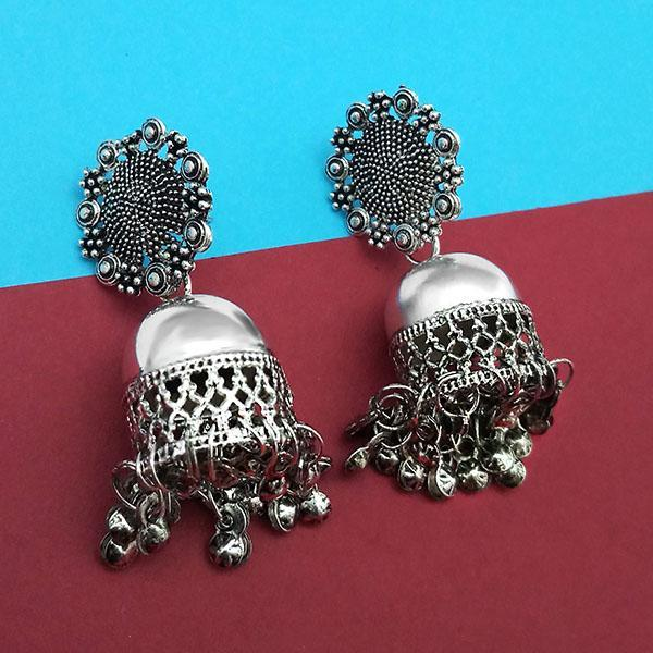 Jeweljunk Oxidised Plated Jhumki Earrings  -1315313