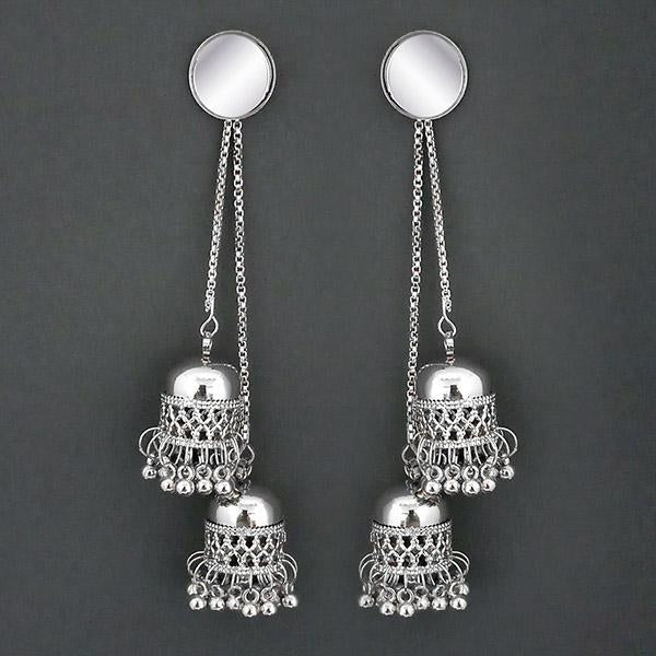 ba3f96a42 Tip Top Fashions Silver Plated Kashmiri Jhumka Earrings - 1315325 ...