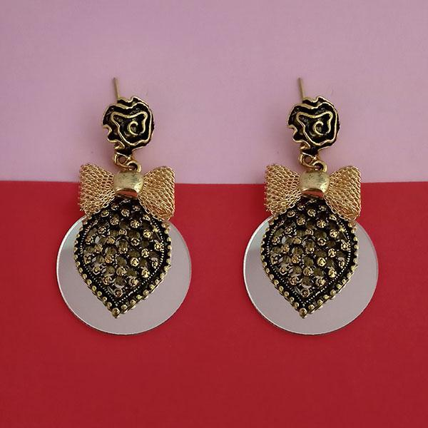 Kriaa Gold Plated Mirror Dangler Earrings - 1315520