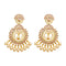 JD Arts Golden Beads Kundan Stone Dangler Earring