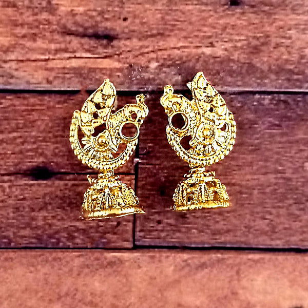 Tip Top Jewellers Antique Gold Plated Jhumki Earrings