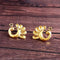Woma Peacock Gold Plated Stud Earrings