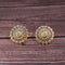 Woma Floral Gold Plated Stud Earrings