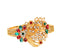 Kriaa Maroon And Green Austrian Stone Kada - 1400225