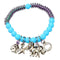 Beadside Blue Beads Rhodium Plated Bracelet - 1400316