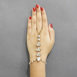 Tip Top Fashions Gold Plated Austrian Stone Hand Harness - 1502431