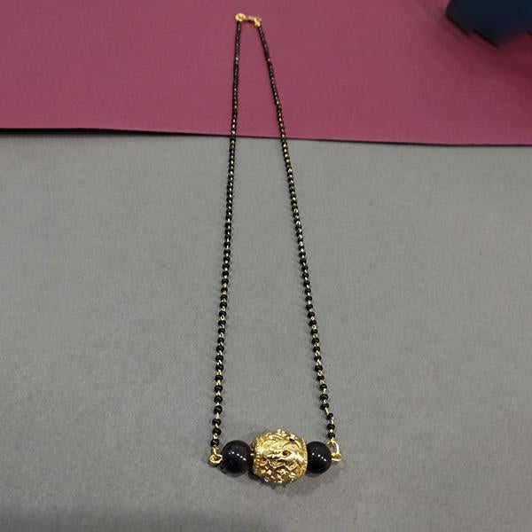 Kriaa Black Beads Gold Plated Mangalsutra -1503021