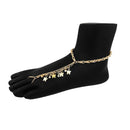 Urthn Butterfly Design Gold Plated Anklet