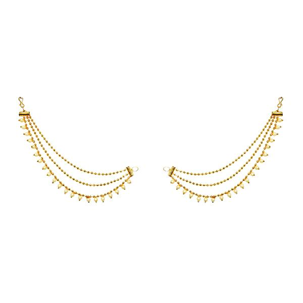 Kriaa Gold Plated Pearl Kan Chain - 1503308