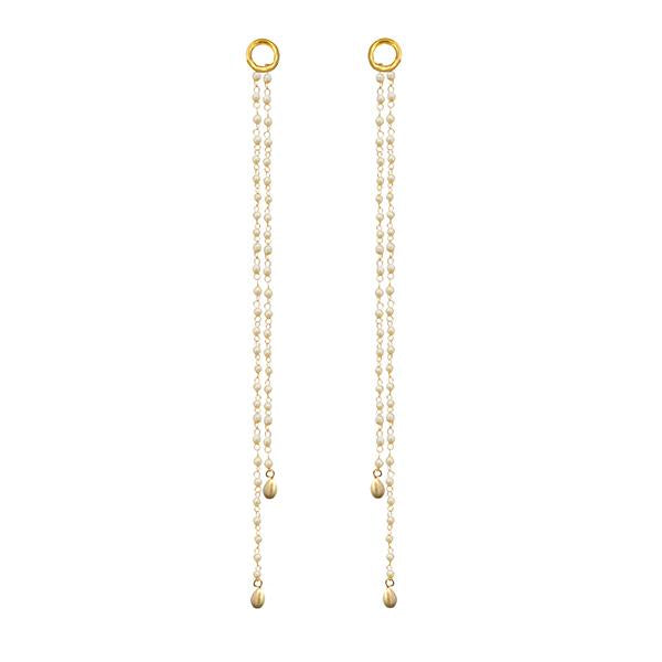Kriaa Gold Plated Pearl Kan Chain - 1503320