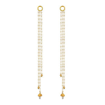 Kriaa Gold Plated Pearl Kan Chain - 1503321