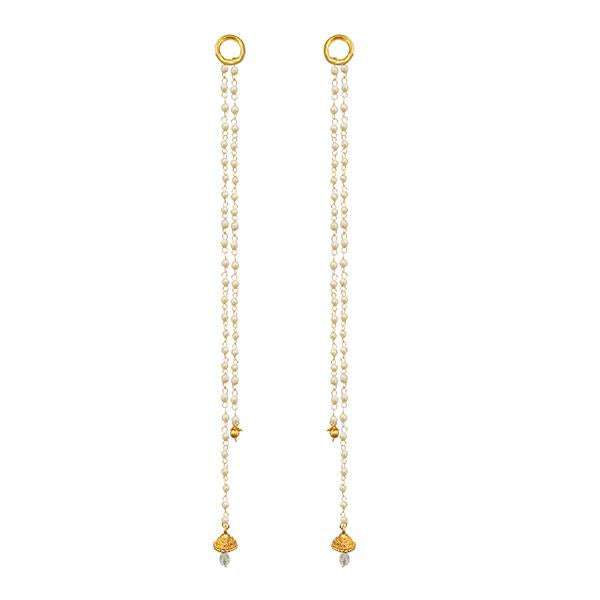 Kriaa Gold Plated Pearl Kan Chain - 1503322