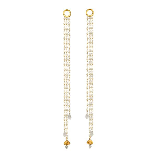 Kriaa Gold Plated Pearl Kan Chain - 1503323