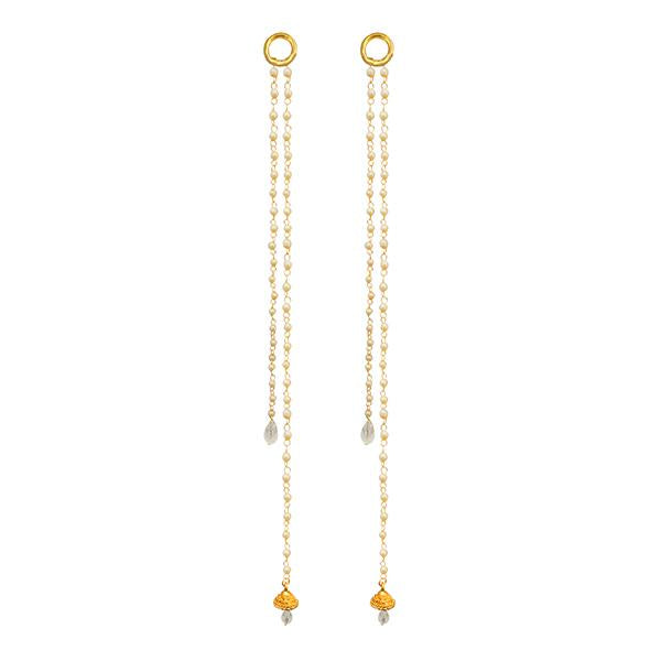 Kriaa Gold Plated Pearl Kan Chain - 1503324