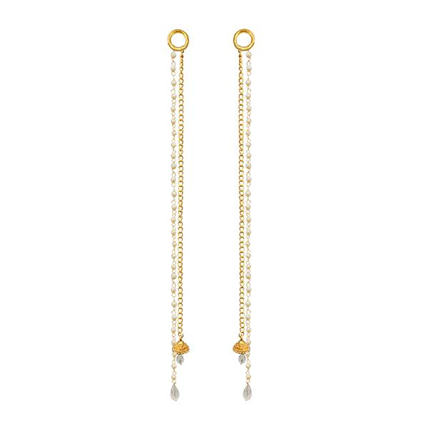 Kriaa Gold Plated Pearl Kan Chain - 1503325