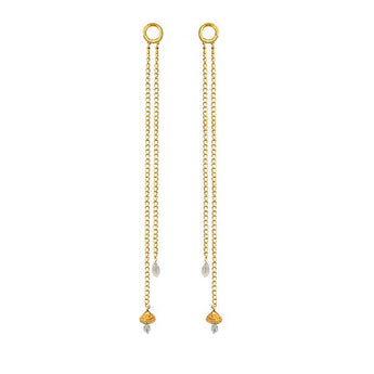 Kriaa Gold Plated Pearl Kan Chain - 1503328