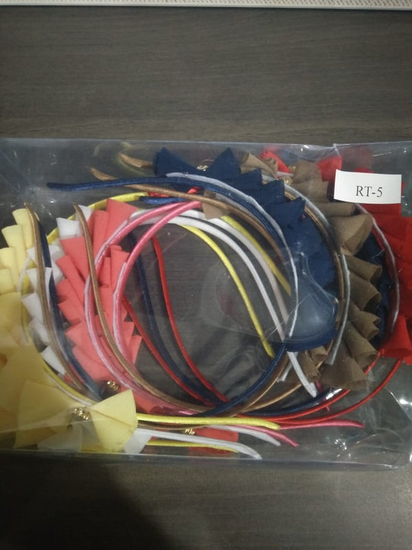 Kriaa Set Of 12 Multicolor Hair Bands