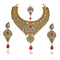 Mithya Pota Stone Kundan Necklace Set with Maang Tikka