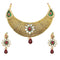 Tip Top Fashions Gold Plated Meenakari Kundan Necklace Set - 2000502