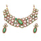 Aurum Austrian Stone & Kundan Gold Plated Necklace Set - 2000512