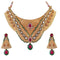 Aurum Meenakari Gold Plated Kundan Necklace Set