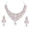 Aurum Zinc Alloy Silver Plated Austrian Stone Necklace Set
